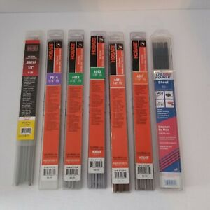 Welding Stick Rod Lot Of 7 Packs Kt Hobard Us Forge Various Sizes