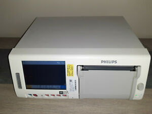 Philips Avalon Fm50 Fetal Maternal Bed Side Patient Monitor With Rolling Cabinet