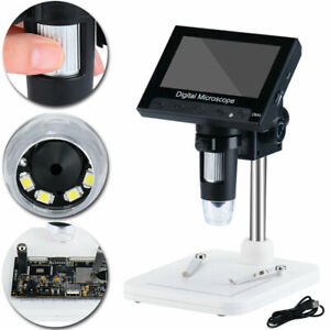 Adjustable 4 3 1000x Hd Lcd Monitor Electronic Digital Microscope Led Magnifier