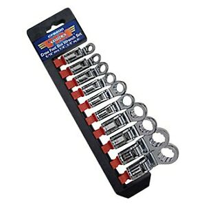 Vim Tools 10 Piece 3 8 Drive Sae 12 Point Flexible Box End Crowfoot Wrench Set