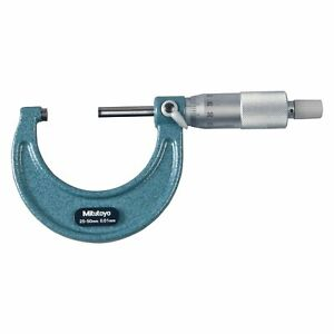 Mitutoyo 103 Series 25 Mm To 50 Mm Metric Mechanical Outside Micrometer