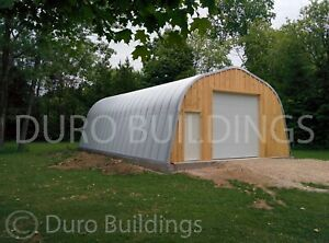 Durospan Steel 30 x20 x14 Metal Building Diy Home Kits Open Ends Factory Direct