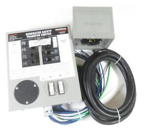 Generac 6294 30 amp 120 240 Single Phase Pre wired Manual Transfer Switch