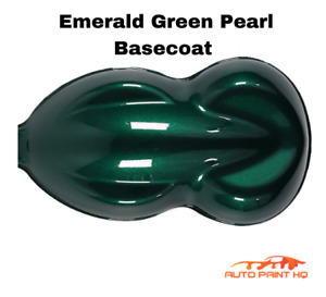 Emerald Green Pearl Basecoat With Reducer Gallon Basecoat Only Paint Kit