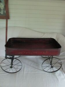 Antique Early 1900 S Child S Wagon Original Paint Stenciling