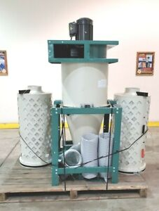 G0442 Ai Grizzly 5 Hp 2 Stage Cyclone Dust Collector Used Machine