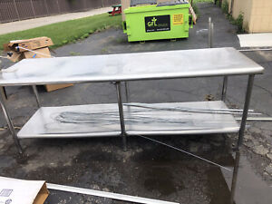 2 Stainless Steel Kitchen Prep Table 8 By 3