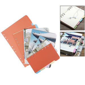 A5 A6 B5 Inner Page Organizer Notebook Index Separator 6 Holes Divider Pijush h2