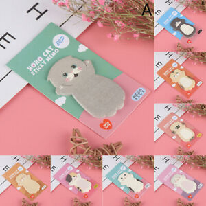 Cartoon Cat Sticky Memo Post Pad Marker It Note Planner Stickers Cute Statioo h2