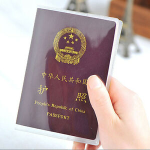 Clear Transparent Travel Business Passport Cover Holder Card Protector Yjh2