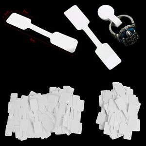 50 100pcs Blank Price Tags Necklace Ring Jewelry Labels Paper Stick Tuexwih2