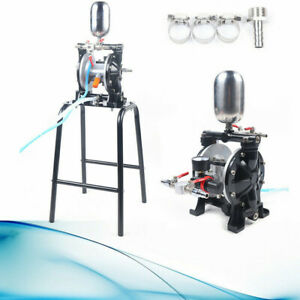 Pneumatic Double Diaphragm Pump 13l min W Filter Suction Cup For Paint Water
