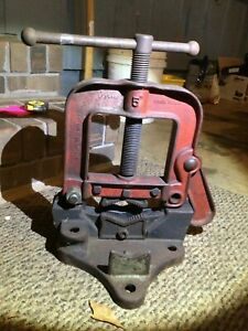 Ridgid Vintage Antique Vise 1 8 To 5 Made In Usa Cast Iron