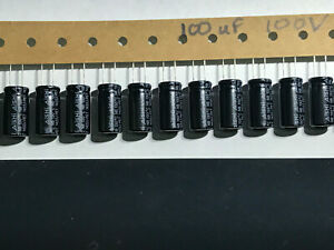 Lot Of 20 100uf 100v Electrolytic Capacitor Aishi High Temperature 130c
