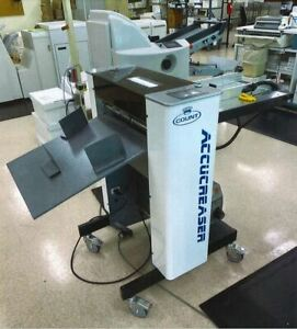 Count Accucreaser Digital Creasing And Perforating Machine Watch Video