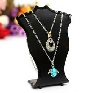 4pcs Acrylic Necklace Pendant Jewelry Display Bust Mannequin Stand Holder Rack