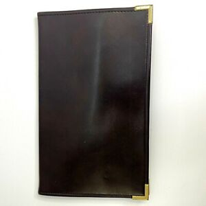 Vintage Faux Leather Business Card Holder Up To 96 Cards 12 x8 Brown red