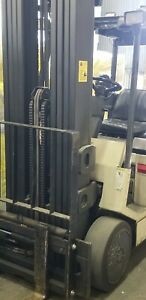 Crown Fcquad 5000lb Forklift Electric 4 Stage Mast Lift Truck Tow Hilo Fork