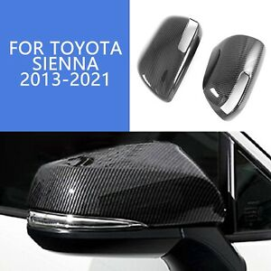 Abs Carbon Fiber Look Side Door Rearview Mirror Cover For 2013 21 Toyota Sienna