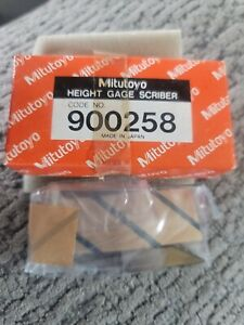 Vintage Mitutoyo Carbide Tipped Height Gage Scriber Code 900258 New Open Box