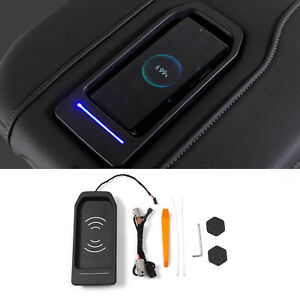 Console Wireless Phone Charger Fit 2019 2021 Chevrolet Silverado Gmc Sierra 15w Fits Gmc