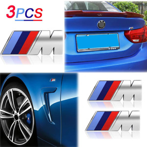 3 Pcs Bmw M Logo Emblem Badge For Trunk And Fenders M Sport Badge 3d Decal
