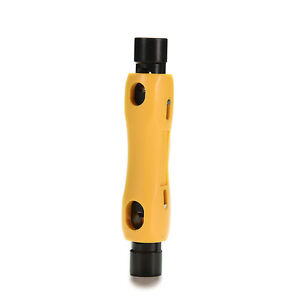 Speedy Coax Coaxial Cable Cutter Stripper Tool For Rg6 Rg59 Rg7 Rg11 Cat5 6b Lo