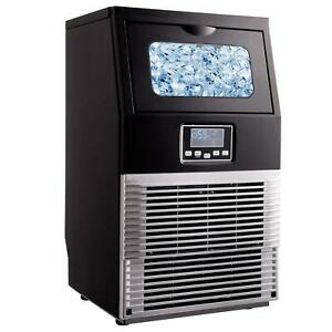 66lb Built in Commercial Ice Maker Cube Stainless Steel Auto Freezer Bar Machine