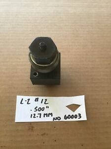 Greenlee No 60009 500 12 7mm Square Radio Chassis Knock Out Punch L 2 12