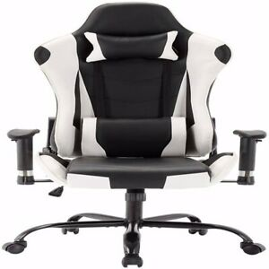 Leather Executive Office Desk Chair Ergonomic Swivel Racing Chair Gaming Chair