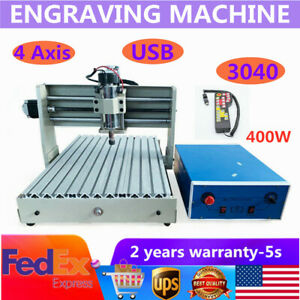 Usb 400w 4 Axis Cnc 3040t Router Engraver Engraving Wood Milling Machine rc