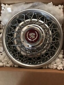 1986 92 Cadillac Fleetwood Brougham Wire Wheel Covers Hub Caps 10201267 Rare