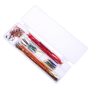 140pcs Solderless Breadboard Jumper Cable Wire Kit Box Diy Shield For Arduino qi