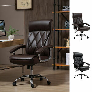 High Back Executive Office Chair Computer Task Seat W padded Armrest