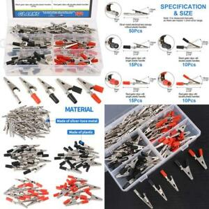 100pcs 3 Style 2 1 53mm Metal Alligator Clip Crocodile Electrical Test Clamps