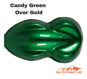 Candy Green Over Gold Basecoat Quart Car Vehicle Motorcycle Auto Paint Kit