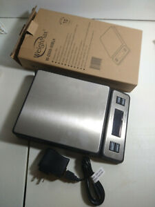 Weighmax 90 Lb X 0 1 Oz Durable Stainless Steel Digital Postal Scale W 2809