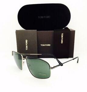 New Tom Ford Sunglasses Tf 467 02n Justin Black Gold 6014140 Withoriginal Case