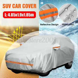 190t Waterproof Full Car Cover For Suv Outdoor Dust Sun Uv Ray Rain Snow Size L Fits 1968 Mustang