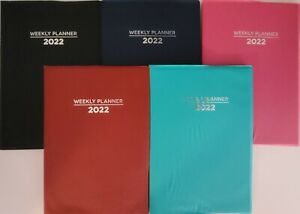 2022 Weekly Appointment Planner Calendar Day timer 7 5 x5 Select Color
