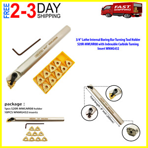 3 4 Lathe Internal Boring Bar Turning Tool Holder With Indexable Carbide Insert