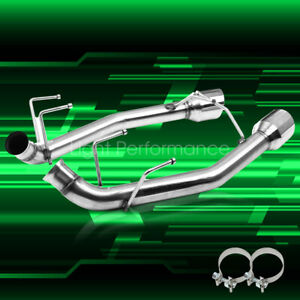 2 5 Exhaust System Axle Cat Back For 11 14 Ford Mustang V6 3 7l With 4 Tips