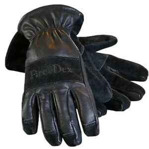 Fire dex Pro Full Finger Perfect Fit Soft Leather Glove Large New