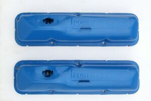Power By Ford Valve Covers Blue Fe 352 360 390 406 427 428 Oem 5 Bolt