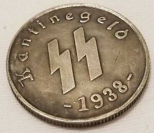 Old German vintage coin WW2 WWII MIlitary 1938 $7.99
