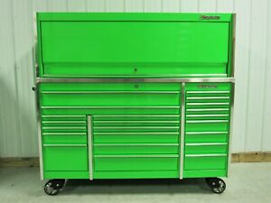 Snap On Extreme Green Krl1023 Tool Box Toolbox Stainless Steel Top Hutch