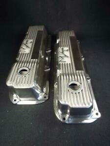 Rare Mickey Thompson M T Valve Covers Ford 351c 351m 400 Just Polished Nr Flwlss