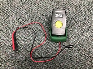 Greenlee Dm 20 Manual Ranging Digital Multimeter With Test Leads Tested Working