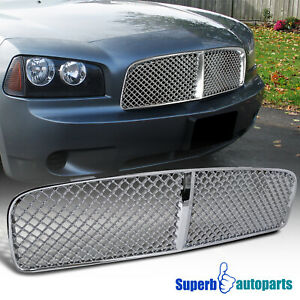 For 2005 2010 Dodge 05 10 Charge Mesh Abs Grill Honeycomb Front Hood Grille Fits 2010 Dodge Charger