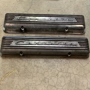 Corvette Valve Covers Fits 1957 To Early 1959 Number 3726086 7 Fin